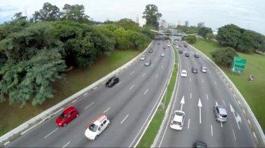 23 May Avenue in Sao Paulo — Stockvideo
