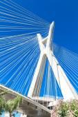 Ponte estaiada em São Paulo — Fotografia Stock