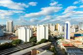 Aerial view of Sao Paulo in Brazil — Fotografia Stock