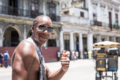 Sympathetic cuban man smiling in Havana, Cuba — Stock Photo