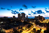 Sunset in Vedado neighborhood in Havana, Cuba — Stock Photo