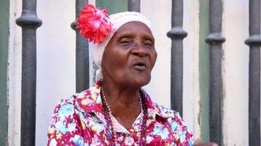 """Cute cuban saying """"Viva Cuba Libre"""" — Stock Video"""