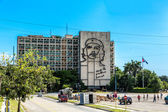 Ministry of the Interior building with face of Che Guevara located in Revolution Square, Cuba. — Stock Photo