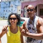 Portrait of a Cuban couple in Havana, Cuba — Stock Photo #79163050