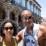 Portrait of a Cuban couple in Havana, Cuba — Stock Photo #79165534