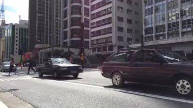 Timelapse in Paulista Avenue, Sao Paulo, Brazil. — Stock Video