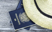 Itens para viajar do Brasil — Fotografia Stock