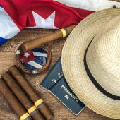 Cuban concept table of some related items — Stock Photo