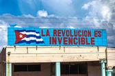 "Sign with ""La Revolucion es Invencible"" — Stock Photo"