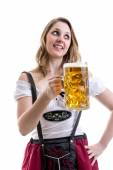 Woman in traditional bavarian costume — Stock Photo
