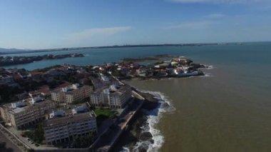 Aerial view of Vitoria bay in Espirito Santo, Brazil — Stock Video