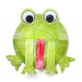 Papier-Frosch — Stockfoto