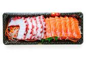 Squid with salmon — Stock Photo