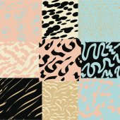 Set of 9 abstract seamless patterns — Vector de stock