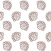 Ethnic abstract hand-drawn seamless pattern — Vetor de Stock