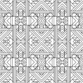 Seamless Geometric Pattern. Art Deco styled  — Stock Vector