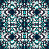 Funky Abstract Geometric Seamless Pattern — Stock Vector