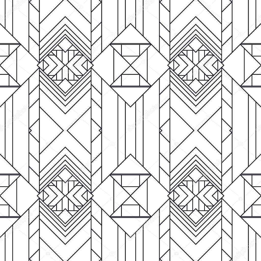 motif g om trique sans soudure un style art d co image vectorielle sproot 69670843. Black Bedroom Furniture Sets. Home Design Ideas