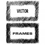 Hand drawn vector textured frames — Stock Vector #72065995