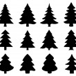 Chritmas tree2 silhouettes — Stock Vector #56704291