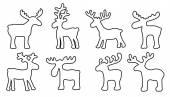 Funny reindeer — Stock Vector