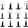 Candle2 silhouettes — Stock Vector #58349647