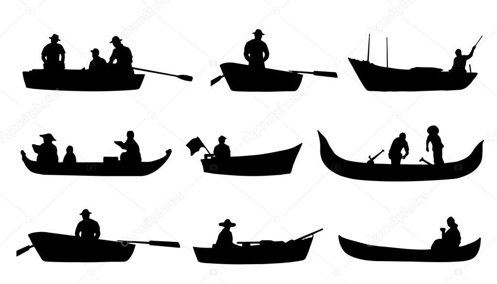 символ человек в лодке