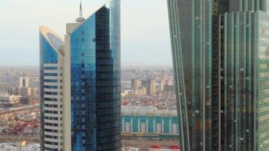 Astana, Modern Futuristic Buildings, Kazakhstan 20.02.2014 — Stock Video