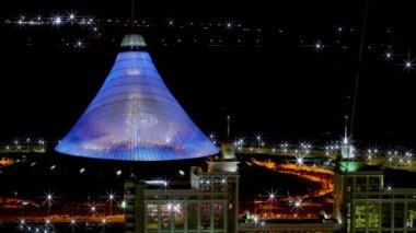 Astana, Kazakistan 20.02.2014. Modern futuristik binalar. Panoramik görünümü. Zaman atlamalı — Stok video
