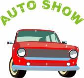 Auto show — Stock Vector