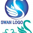 Colorful swan logo isolate white background. — Stock Vector #78378772