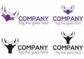 Horn graduation icon and logo design. Vector file include. — Stock Vector