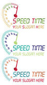 Speed time logo. vector file fully editable. — Stock Vector
