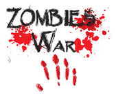 The word zombie war for HORROR in a bloody. — Stock Vector