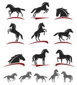 Sada koně — Stock vektor