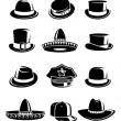 Hats collection set — Stock Vector #56422983