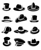 Hats collection set — Stock Vector