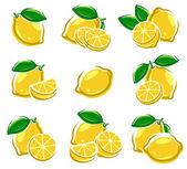 Lemon set — Stock Vector
