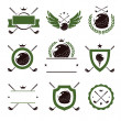 Golf labels and icons set — Stock Vector #72950193