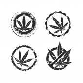 Cannabis, marijuana set — Stock Vector