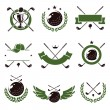 Golf labels and icons set — Stock Vector #75341553