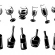 Alcoholic glass collection. Vector — Stock Vector #78537116