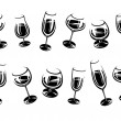 Alcoholic glass collection. Vector — Stock Vector #78537124