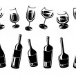 Alcoholic glass collection. Vector — Stock Vector #78537128