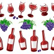 Alcoholic glass collection. Vector — Stock Vector #78538704