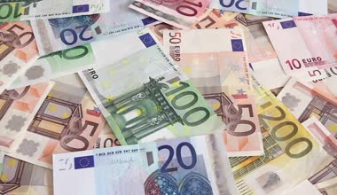Euro money background — Stock Video