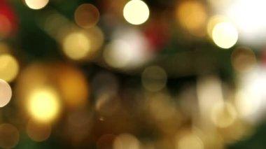 Christmas bokeh lights — Stock Video