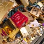 Love padlocks on the Pont des Arts. Paris. France. — Stock Photo #52686141