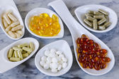 Variety of nutritional supplements. — Stock Photo