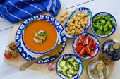 Spanish Cuisine. Gazpacho. — Stock Photo